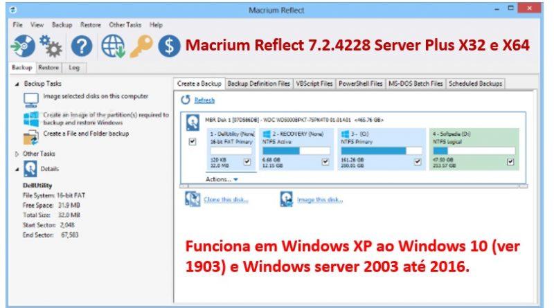 Macrium Reflect 7 2 4228 Server Plus 2019 completo +